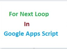 Google apps script for next loop thumbnail