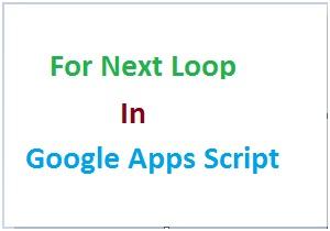 Google apps script for next loop thumbnail