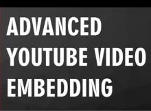 Youtube video embedding concept