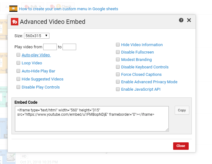 The Lazy Man's Guide to do advanced youtube video embedding? - Amarindaz