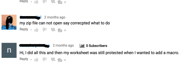 Youtube comments with queries