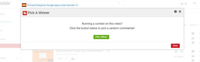 youtube random comment picker