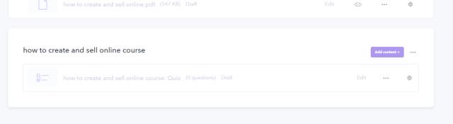 creating quiz