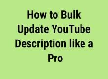 bulk update YouTube description feature image