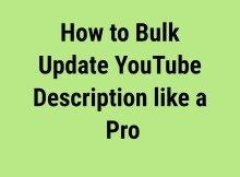bulk update YouTube description feature image