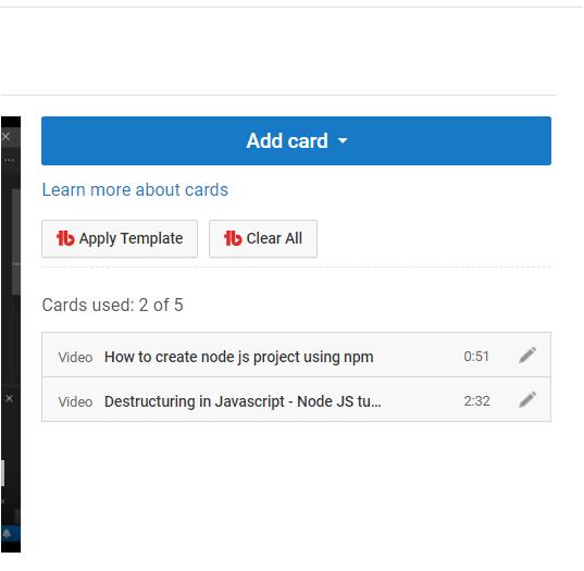 Add Cards in Bulk on YouTube