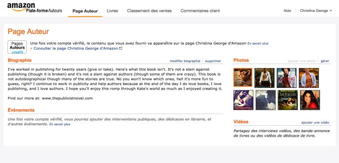 French Amazon Author Central Page | AMarketingExpert.com