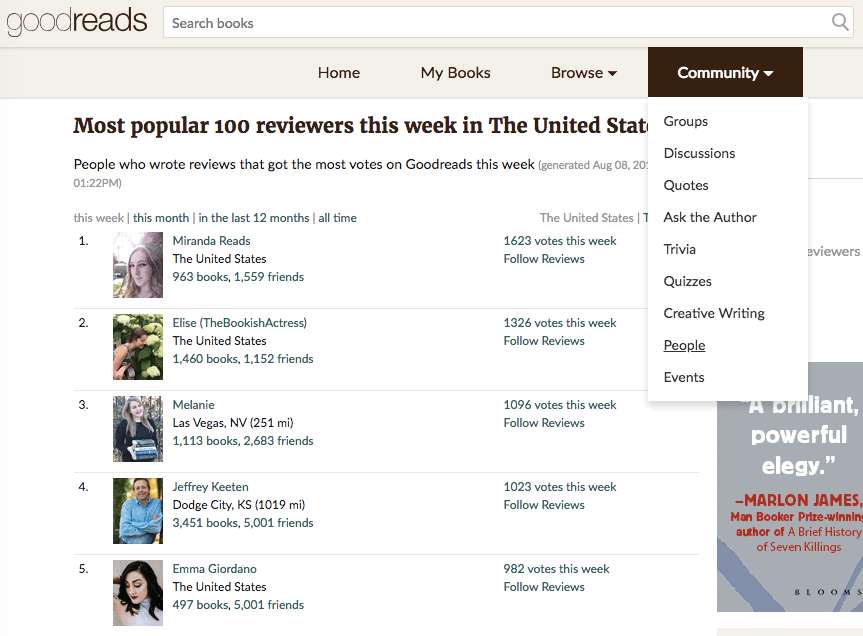 Networking on Goodreads | Goodreads giveaways