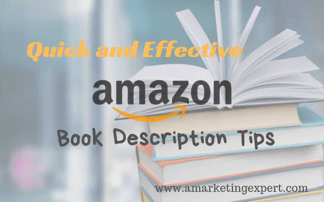 Effective Amazon book description tips t
