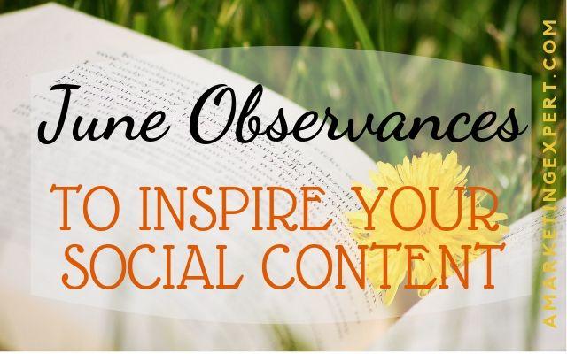 June content ideas