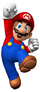 Dibujo de Mario, el protagonista del videojuego Super Mario Bros.