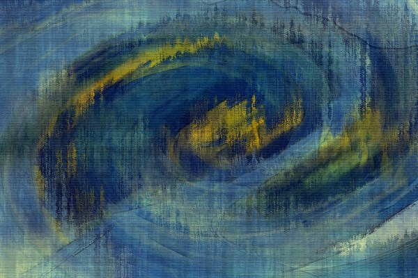 abstract painting from landscape