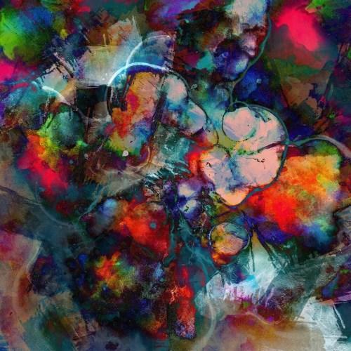 Lion digital paintingAbstract digital painting
