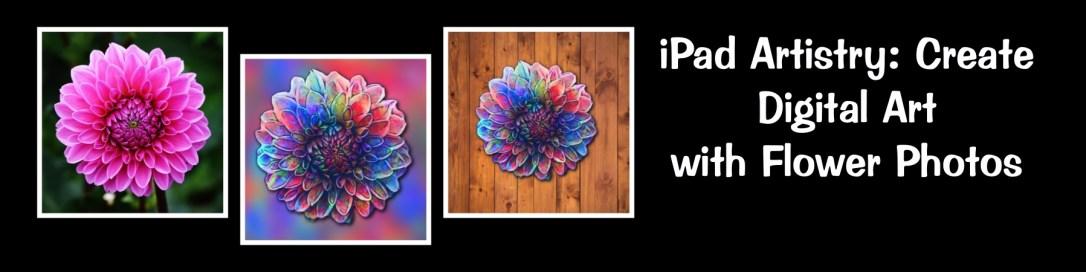digital art from flower photos