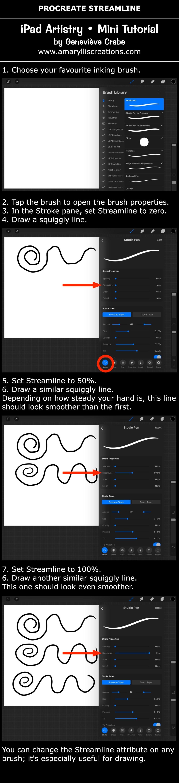 Mini tutorial: Draw with Streamline option in Procreate on iPad