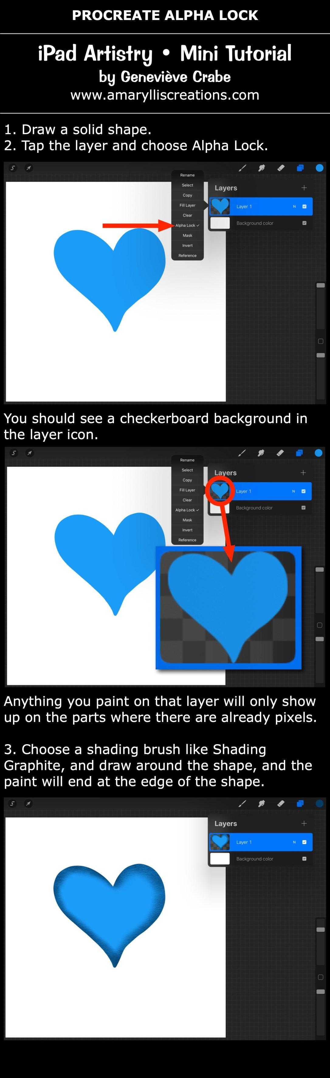 Mini tutorial: Alpha Lock in Procreate on iPad
