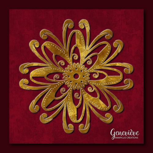 Digital mandala painting
