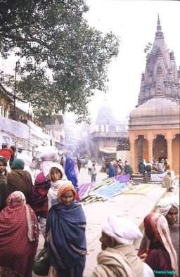 Busy street scene, India
