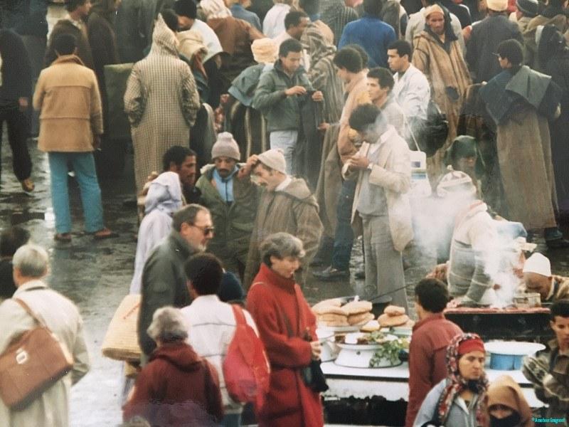 Marrakesh market scene