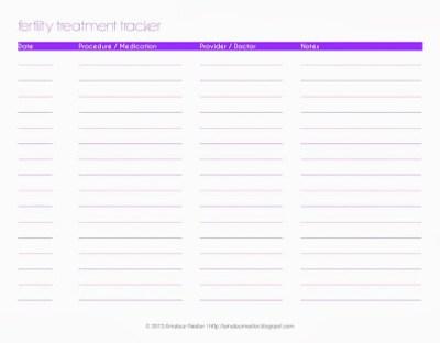 fertility treatment tracker