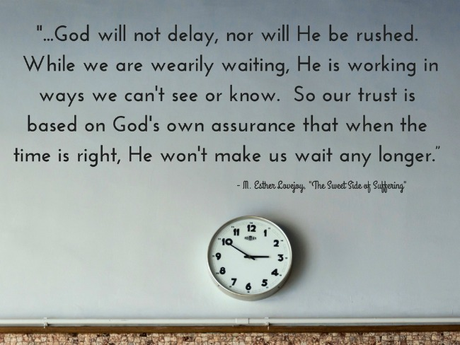 god will not delay
