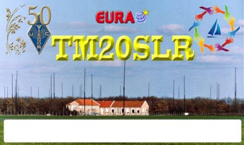 QSL card for special event station TM20SLR remembering St Lys Radio FFL