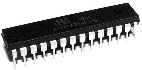 Resim-1. ATmega328P Mikrodenetleyicinin genel görünümü.