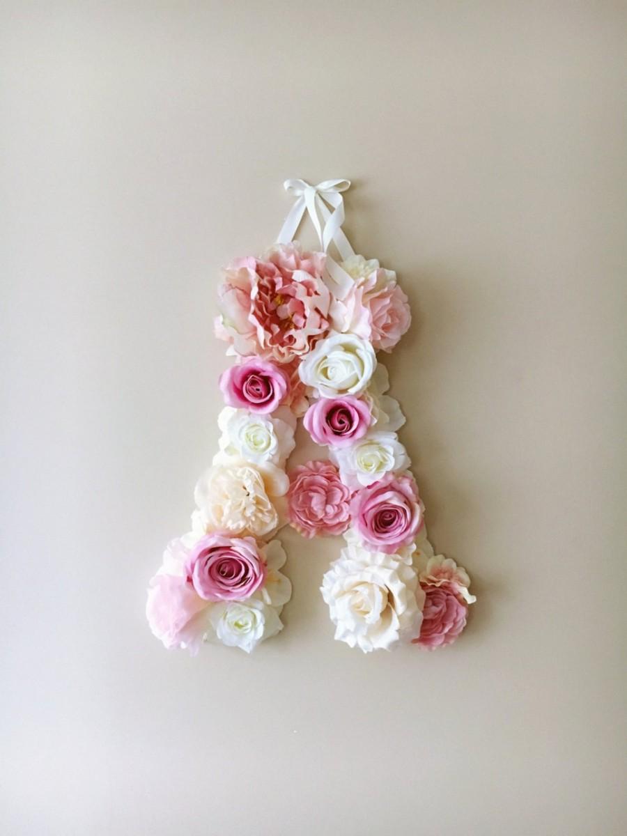 MSDAVF013 – Blush Pink Custom Flower Letter – PINK