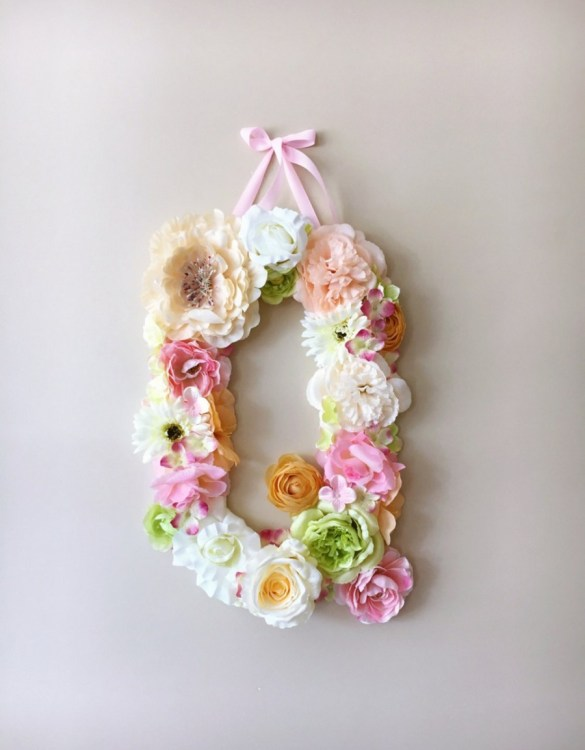 Completely handmade, the Green and Ivory Custom Flower Letter is a great for decoration at a wedding using the couples initials, and a lovely keepsake for afterwards.