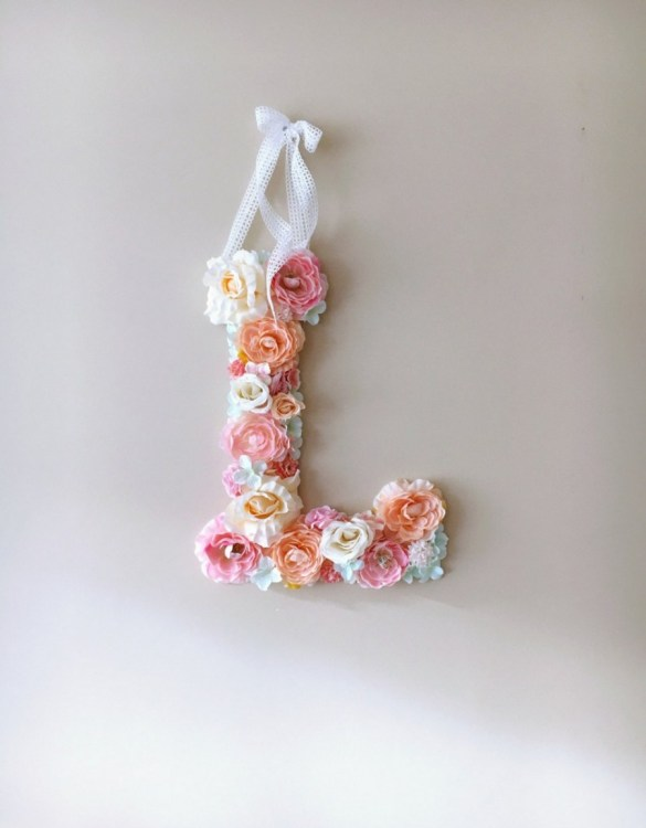 Completely handmade, the Candy Pink Custom Flower Letter is a great for decoration at a wedding using the couples initials, and a lovely keepsake for afterwards.