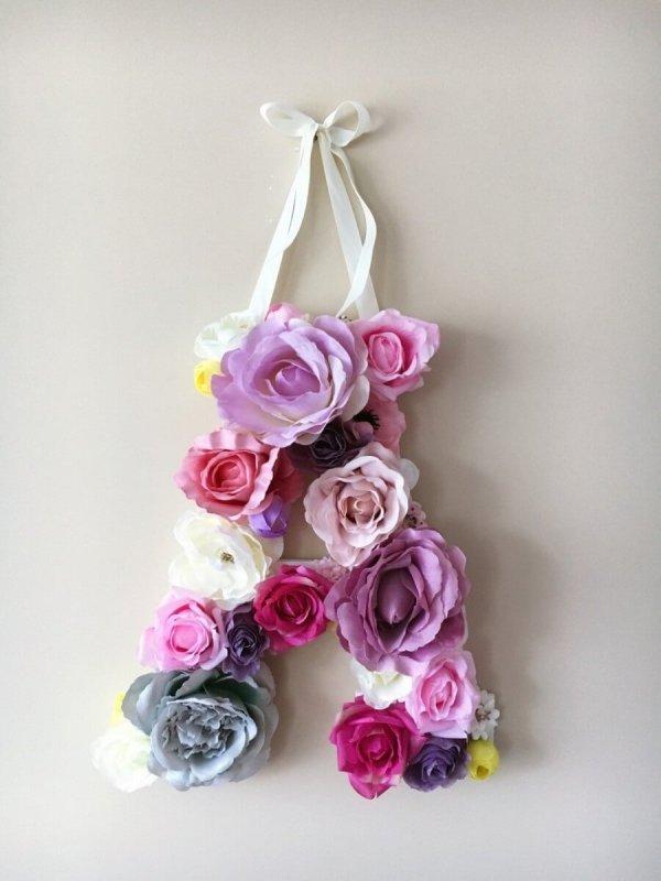 MSDAVF032 – Lavender Custom Flower Letter – LAVDR