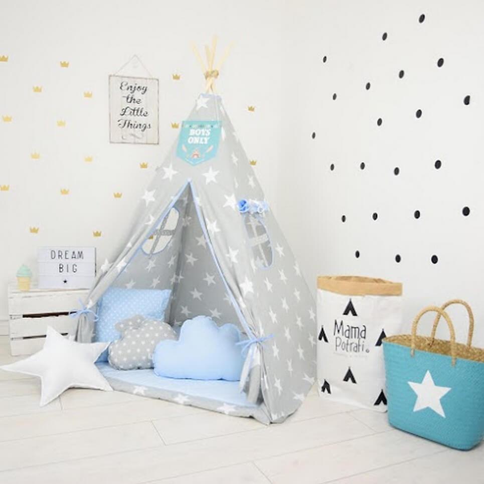 MSGFFK015 – Blue Hero Children's Teepee Tent