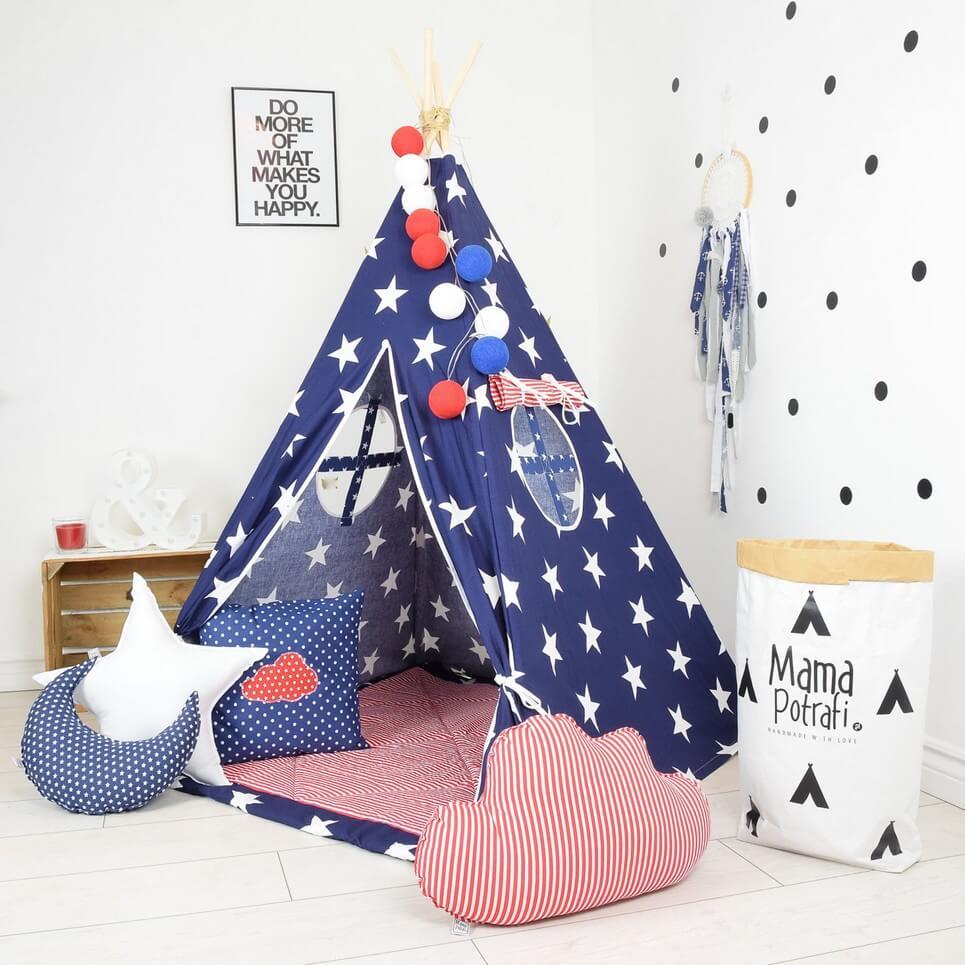 Navy Sky Children's Teepee Tent