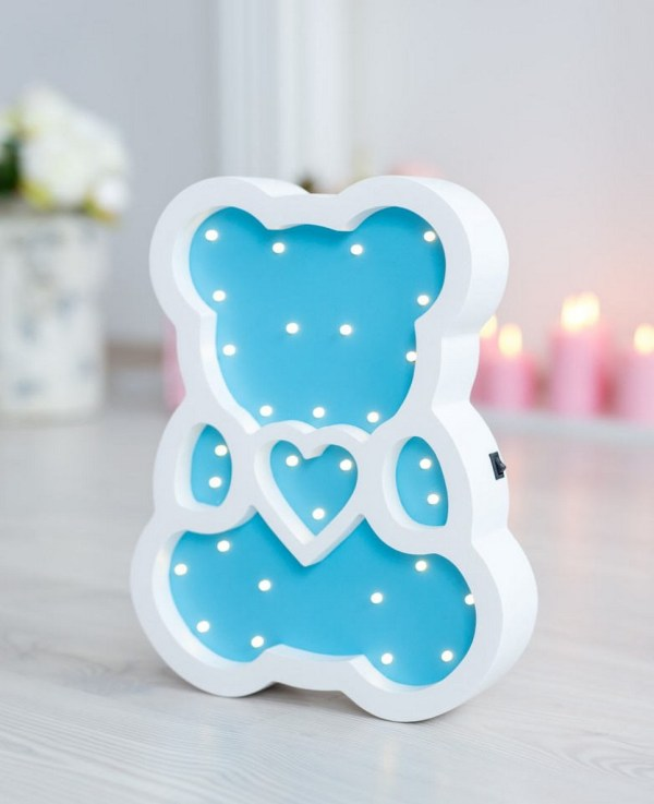 Bear Wooden Night Light