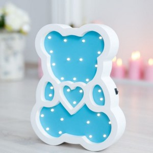 With a charming design, the Bear Wooden Night Light provides a reassuring glow for your little one, making it perfect for a nursery or kids room nightlight, or an interesting addition to any other space.