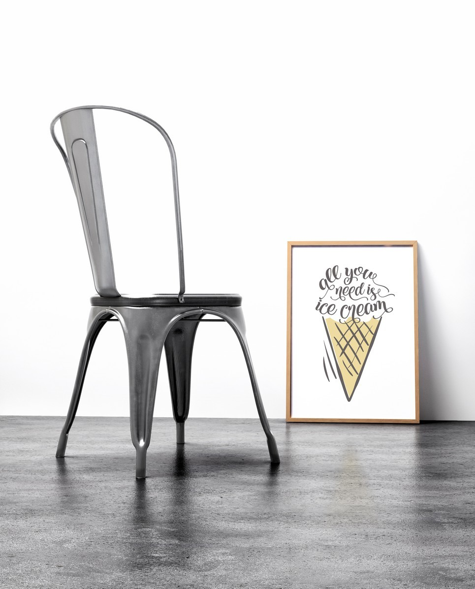 Home Wall Poster – All You Need is Ice Cream – 2