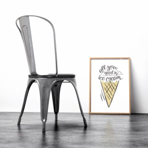 Perfect for any room in the home, the Home Wall Poster - All You Need is Ice Cream is a great piece of daily inspiration for your walls.