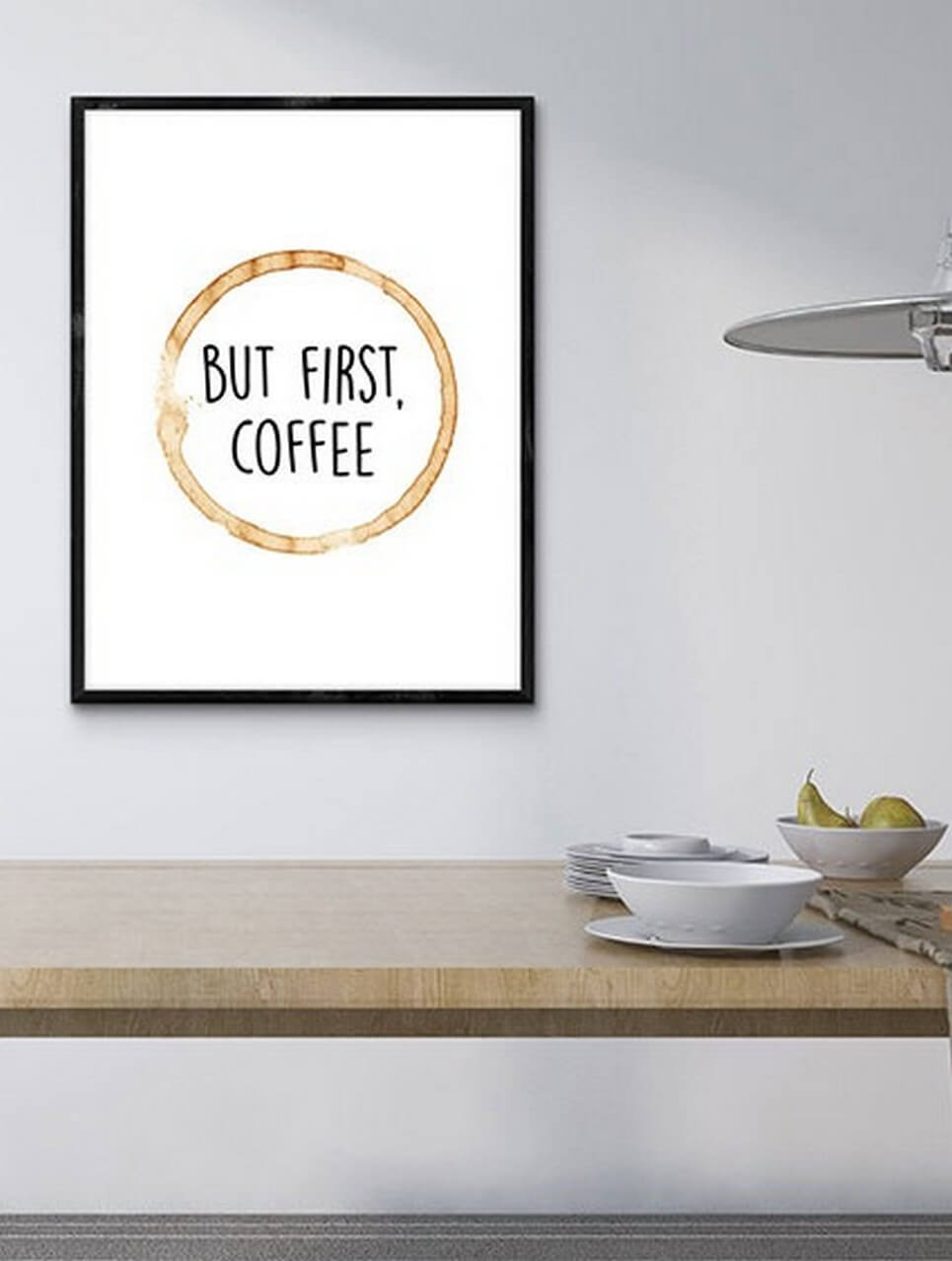 Home Wall Poster – But First, Coffee