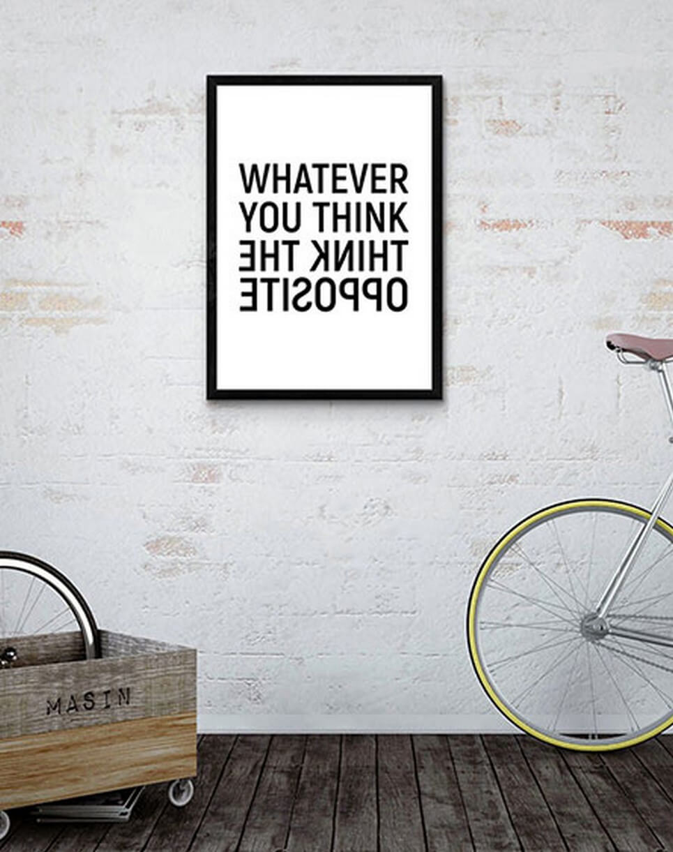 Home Wall Poster – Think The Opposite – 3