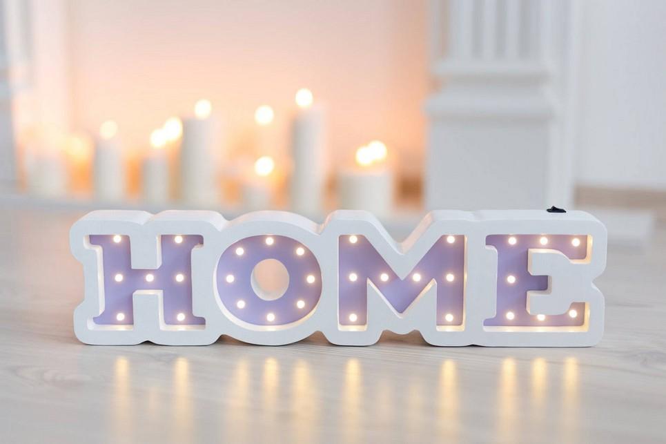 Home Wooden Night Light – Violet