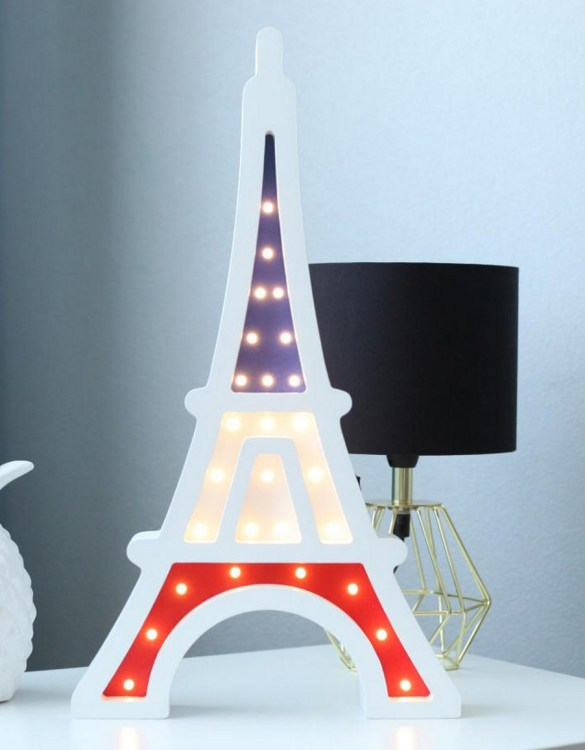 With a charming design, the Tour Eiffel Wooden Night Light provides a reassuring glow for your little one, making it perfect for a nursery or kids room nightlight, or an interesting addition to any other space.
