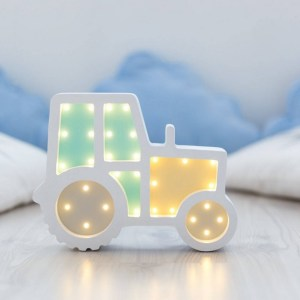 With a charming design, the Tractor Wooden Night Light provides a reassuring glow for your little one, making it perfect for a nursery or kids room nightlight, or an interesting addition to any other space.