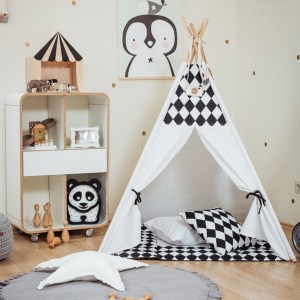 Let your little ones create their own little world with the Black Rombs Children's Teepee Set. It creates the perfect setting for imaginative role play providing endless hours of fun.
