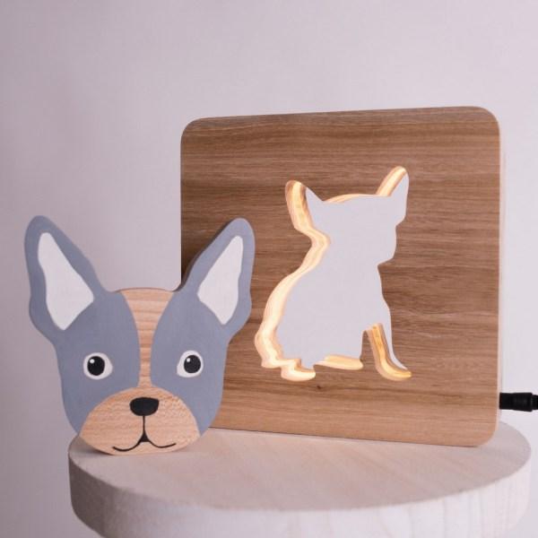 Bulldog Wood Toy