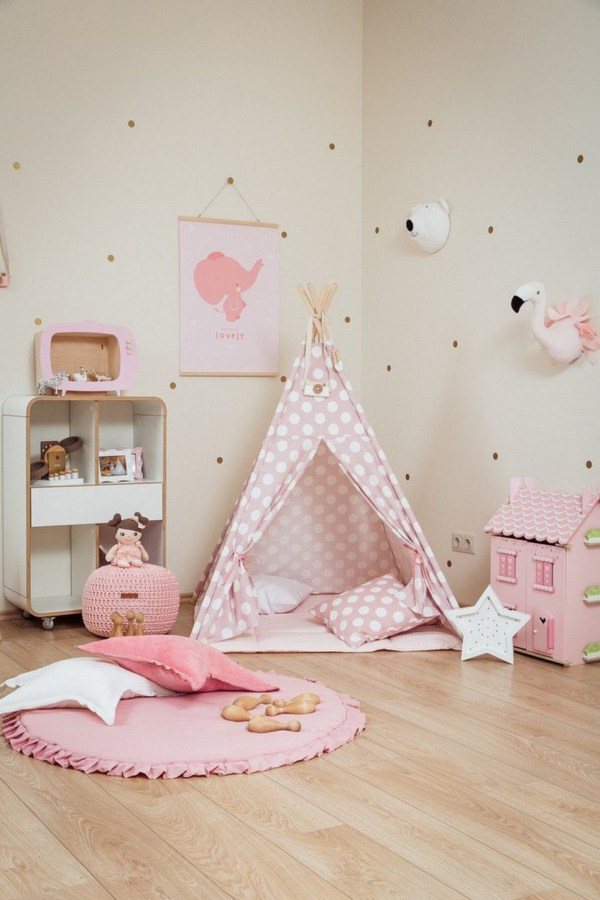 Large Dots Children's Teepee Set_2