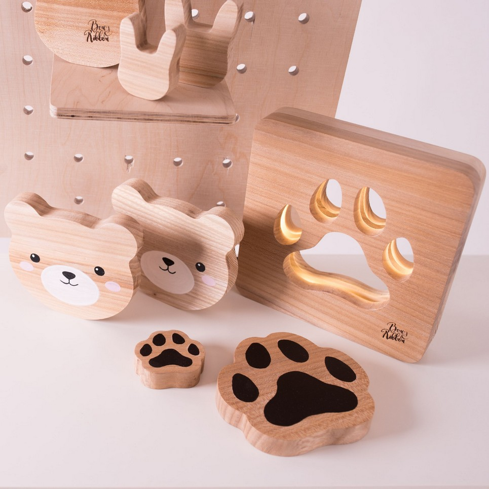 Pet Paw Wood Toy