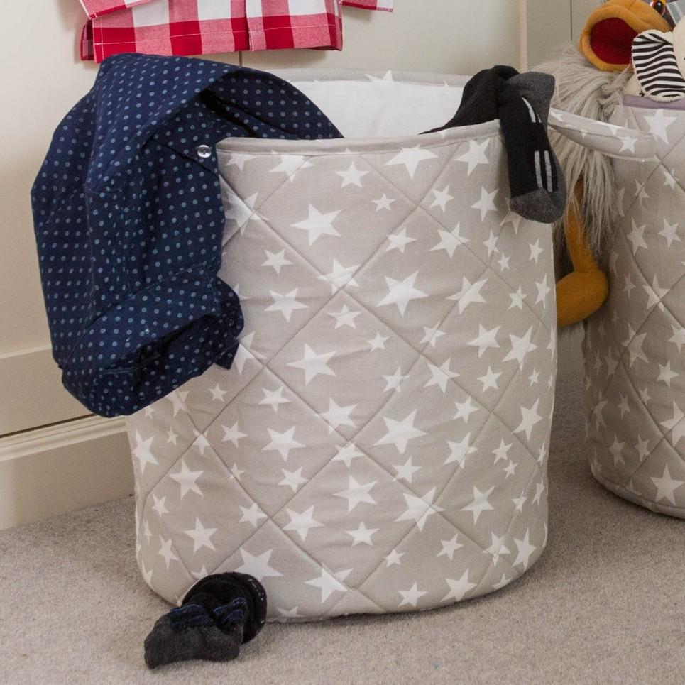 Grey Star Children's Laundry Basket_4