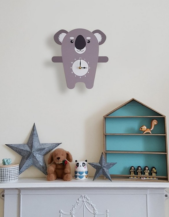 A great gift and a lovely addition to any nursery or bedroom, the Kenny The Koala Wall Clock is a great way of helping children learn to tell the time whilst offering a stunning wall decoration.
