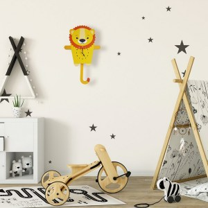 A great gift and a lovely addition to any nursery or bedroom, the Leonard The Lion Pendulum Wall Clock is a great way of helping children learn to tell the time whilst offering a stunning wall decoration.