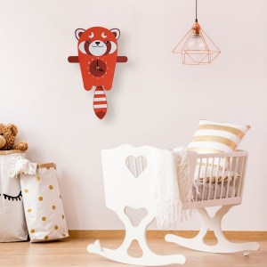A great gift and a lovely addition to any nursery or bedroom, the Roxy The Red Panda Pendulum Wall Clock is a great way of helping children learn to tell the time whilst offering a stunning wall decoration.